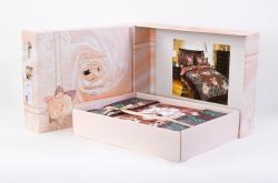 Постельное белье из сатина - премиум «Музей с компаньоном бежевый» (в подарочной упаковке) | ТМ ТексДизайн